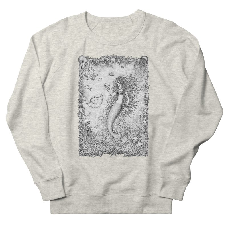 Underwater Fantasy Women's French Terry Sweatshirt by Eugenia Hauss's | Exiled Beauty