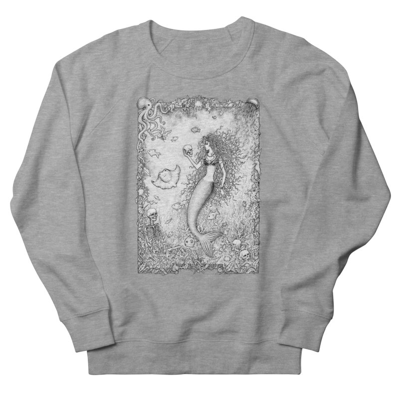 Underwater Fantasy Men's French Terry Sweatshirt by Eugenia Hauss's | Exiled Beauty