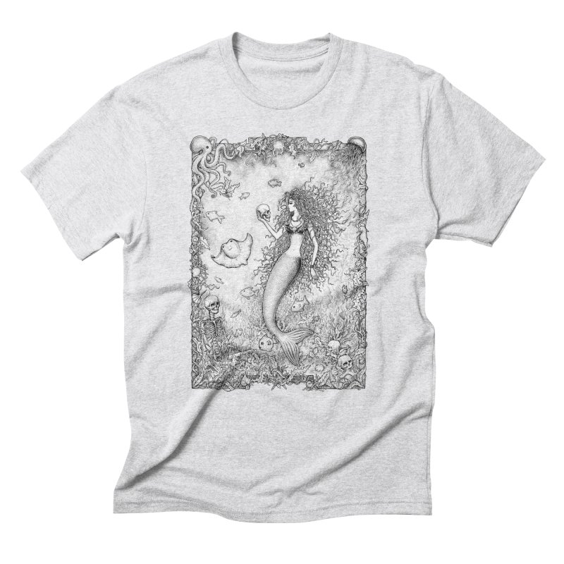 Underwater Fantasy Men's Triblend T-shirt by Eugenia Hauss's | Exiled Beauty