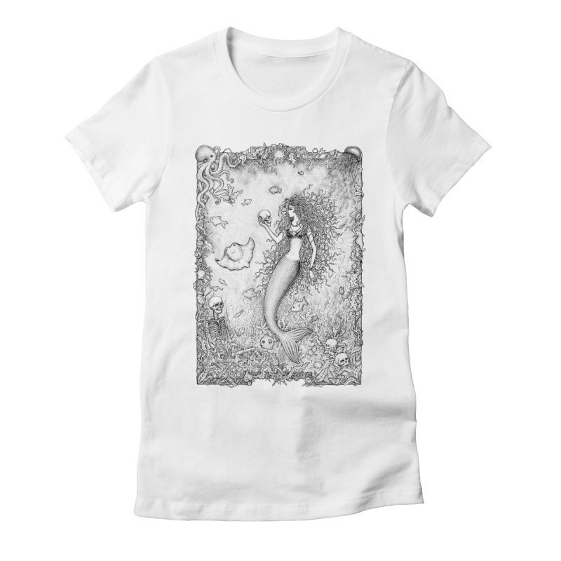 Underwater Fantasy Women's Fitted T-Shirt by Eugenia Hauss's | Exiled Beauty