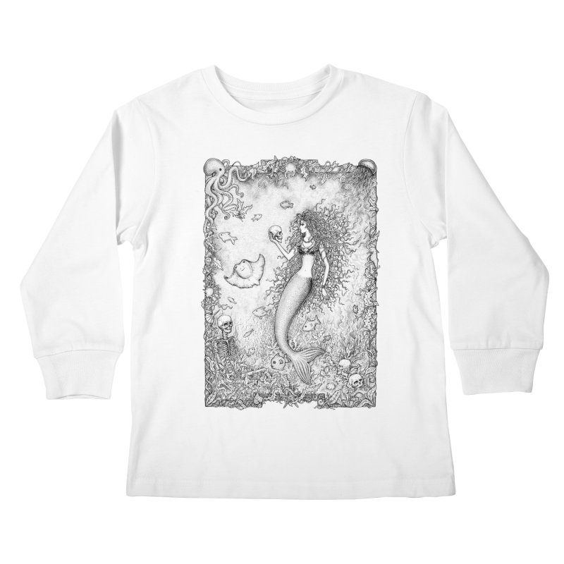 Underwater Fantasy Kids Longsleeve T-Shirt by Eugenia Hauss's | Exiled Beauty