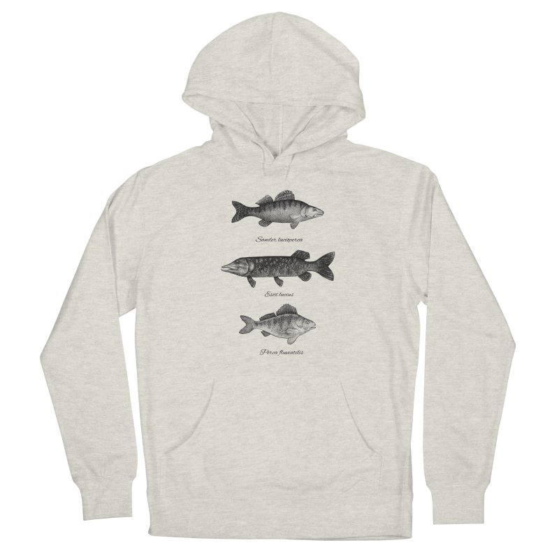 Zander, Pike And Perch Women's French Terry Pullover Hoody by Eugenia Hauss's | Exiled Beauty