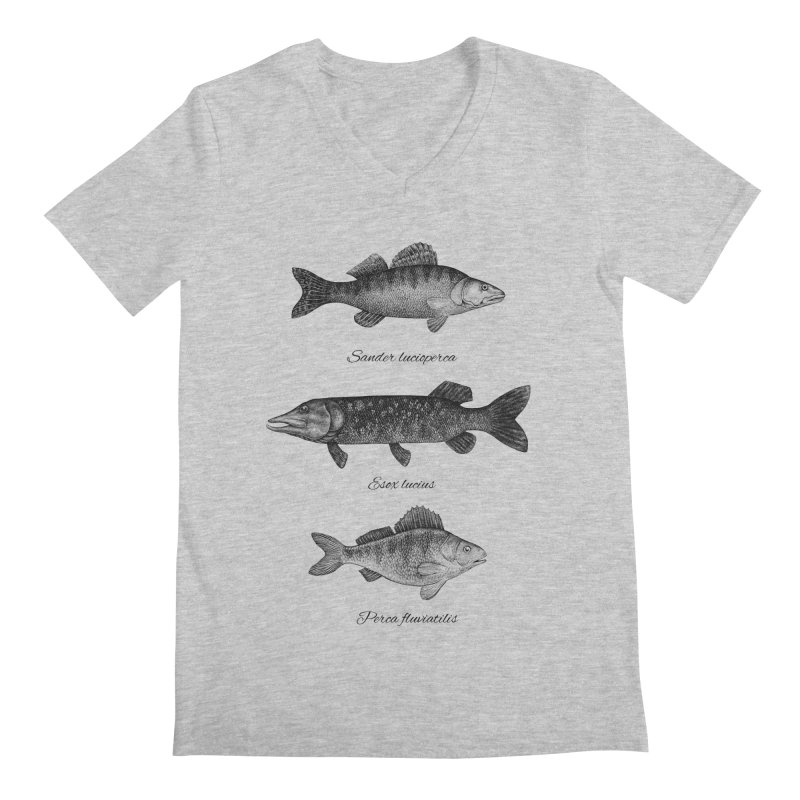 Zander, Pike And Perch Men's V-Neck by Eugenia Hauss's | Exiled Beauty