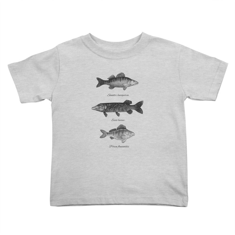 Zander, Pike And Perch Kids Toddler T-Shirt by Eugenia Hauss's | Exiled Beauty