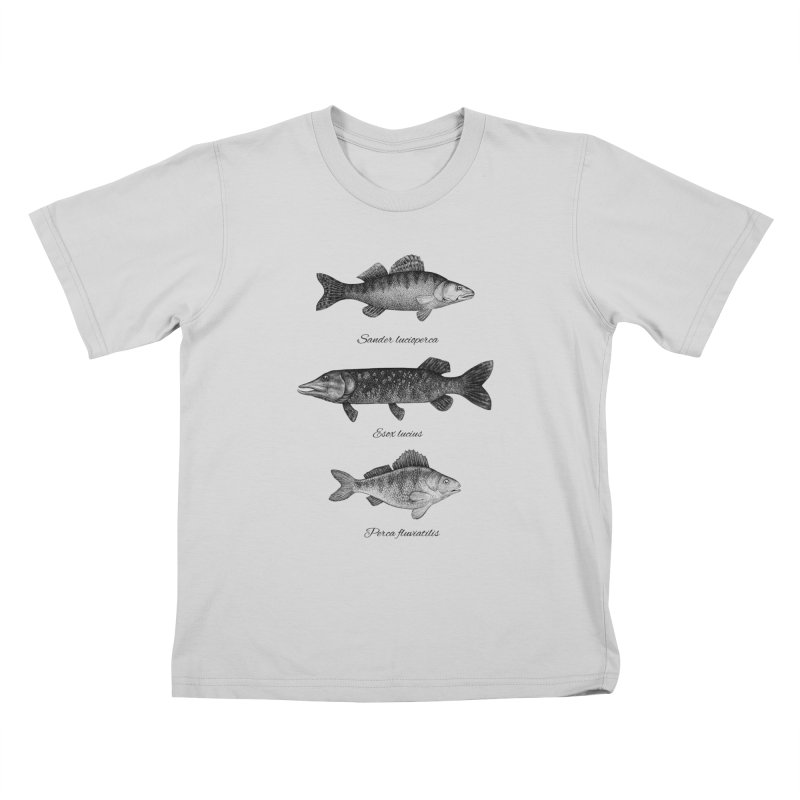 Zander, Pike And Perch Kids T-Shirt by Eugenia Hauss's | Exiled Beauty