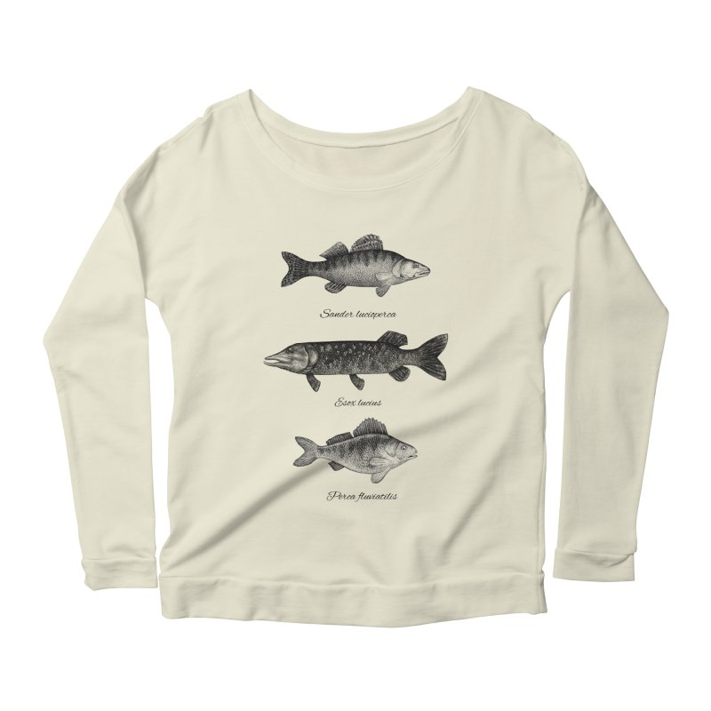 Zander, Pike And Perch Women's Longsleeve Scoopneck  by Eugenia Hauss's | Exiled Beauty
