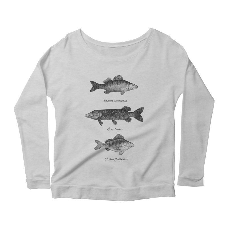Zander, Pike And Perch Women's Scoop Neck Longsleeve T-Shirt by Eugenia Hauss's | Exiled Beauty