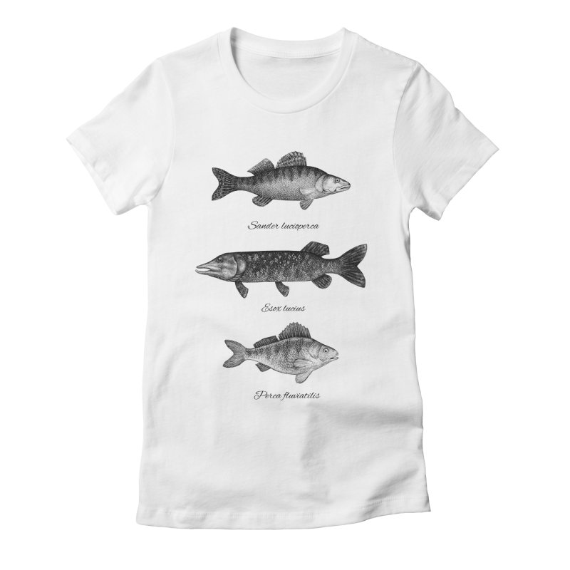 Zander, Pike And Perch Women's Fitted T-Shirt by Eugenia Hauss's | Exiled Beauty