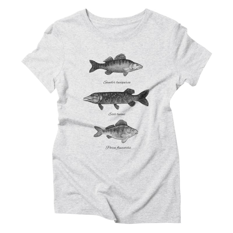 Zander, Pike And Perch Women's Triblend T-shirt by Eugenia Hauss's | Exiled Beauty
