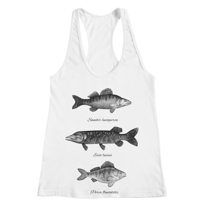 Zander, Pike And Perch Women's Racerback Tank by Eugenia Hauss's | Exiled Beauty