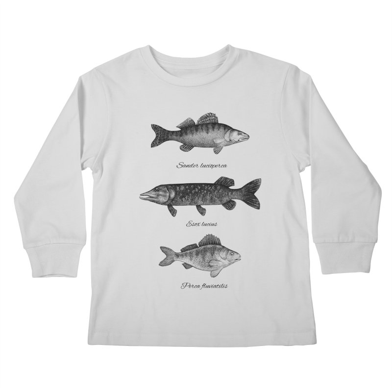 Zander, Pike And Perch Kids Longsleeve T-Shirt by Eugenia Hauss's | Exiled Beauty