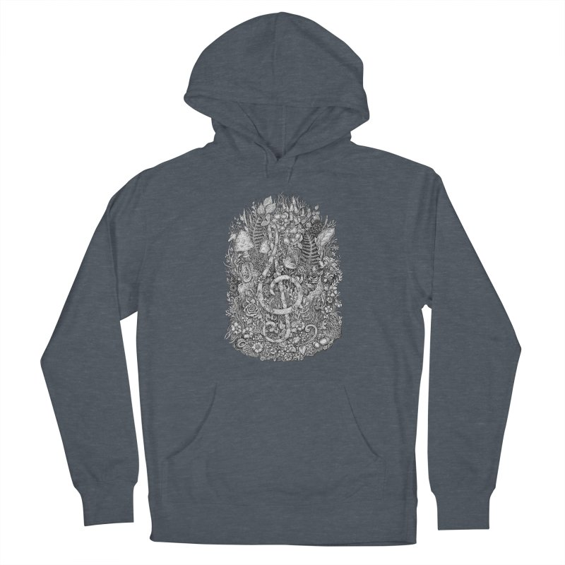 Music Women's French Terry Pullover Hoody by Eugenia Hauss's | Exiled Beauty