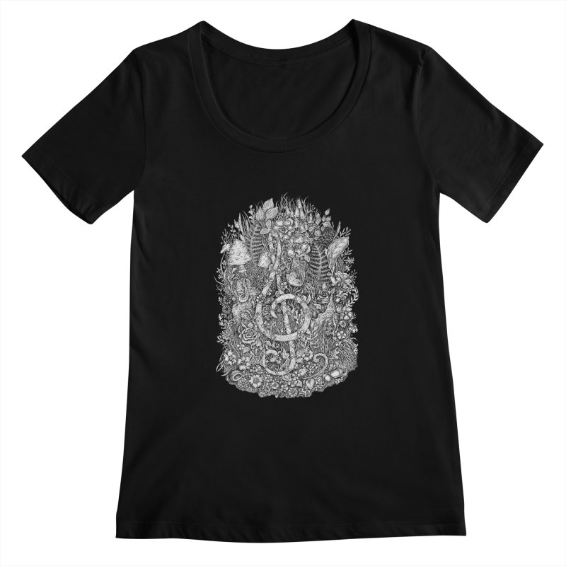 Music Women's Scoopneck by Eugenia Hauss's   Exiled Beauty