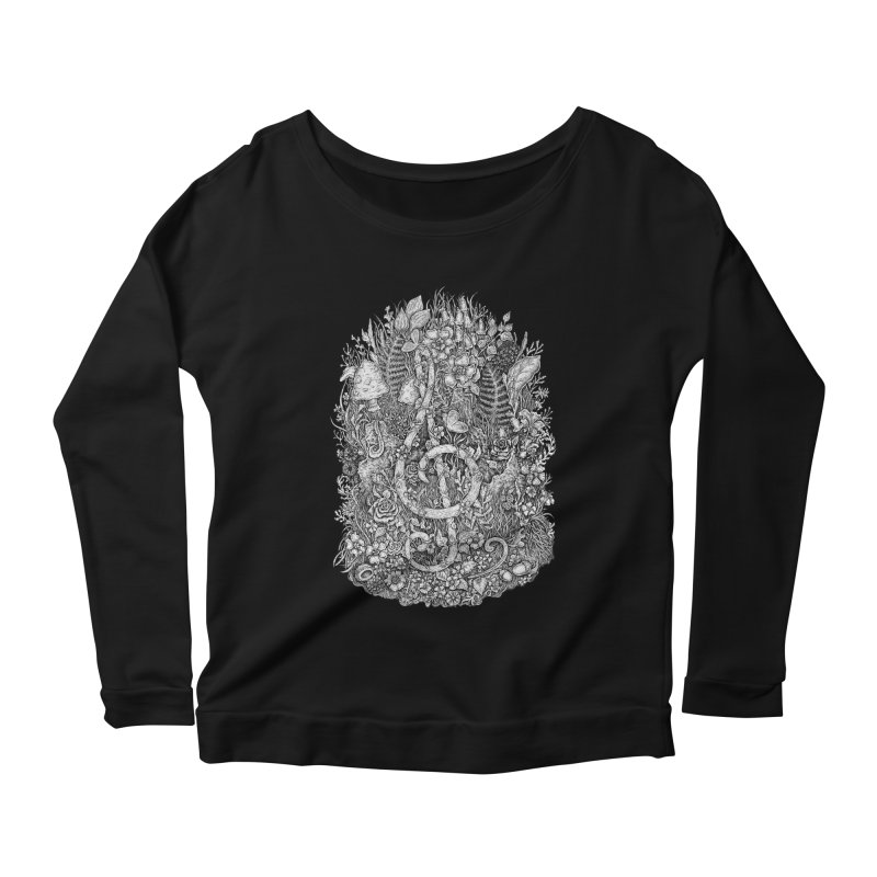 Music Women's Longsleeve Scoopneck  by Eugenia Hauss's | Exiled Beauty