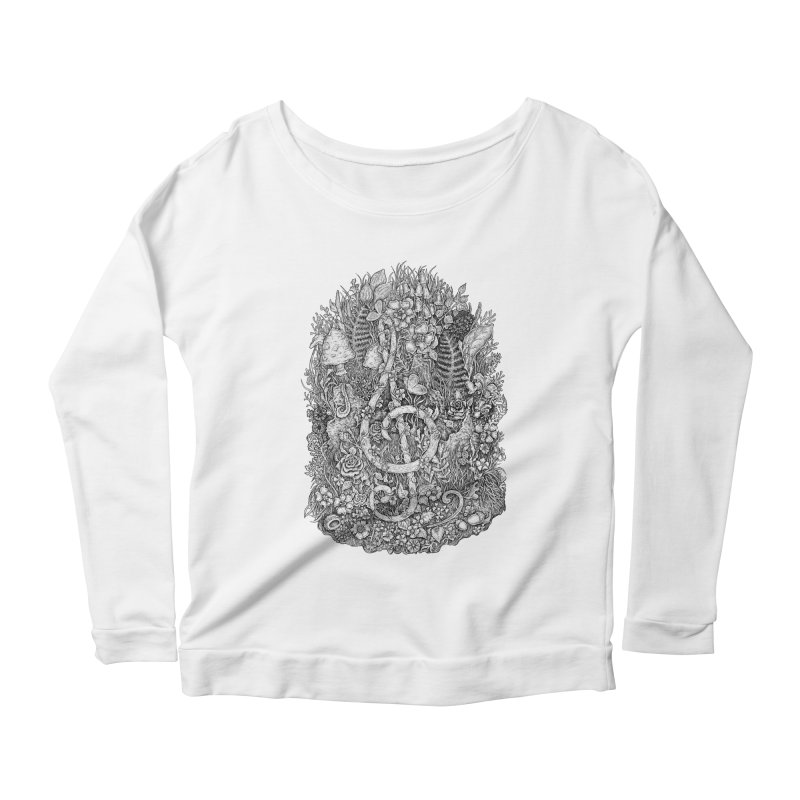 Music Women's Scoop Neck Longsleeve T-Shirt by Eugenia Hauss's | Exiled Beauty