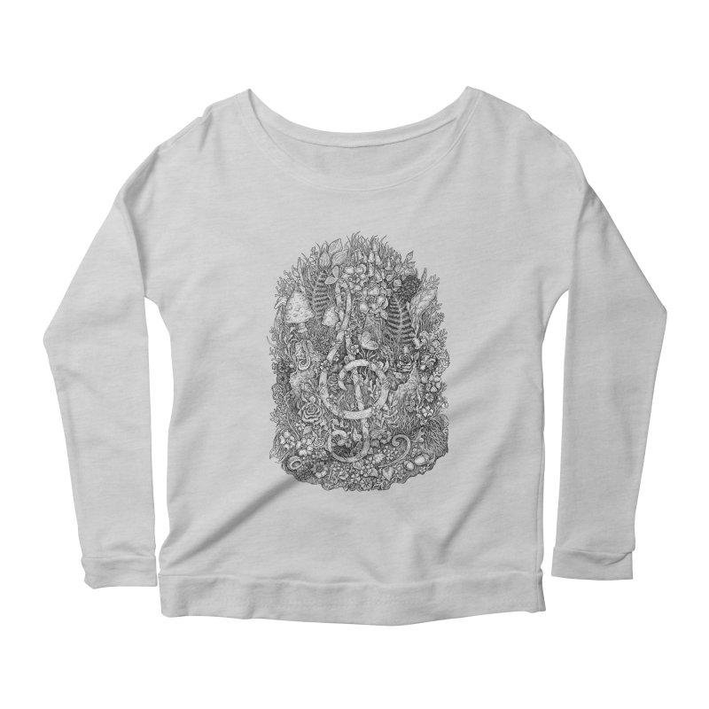 Music Women's Scoop Neck Longsleeve T-Shirt by Eugenia Hauss's   Exiled Beauty