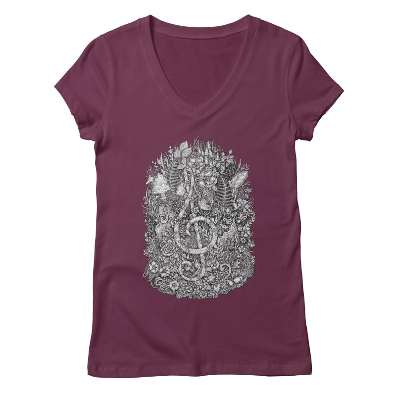 Music Women's V-Neck by Eugenia Hauss's | Exiled Beauty