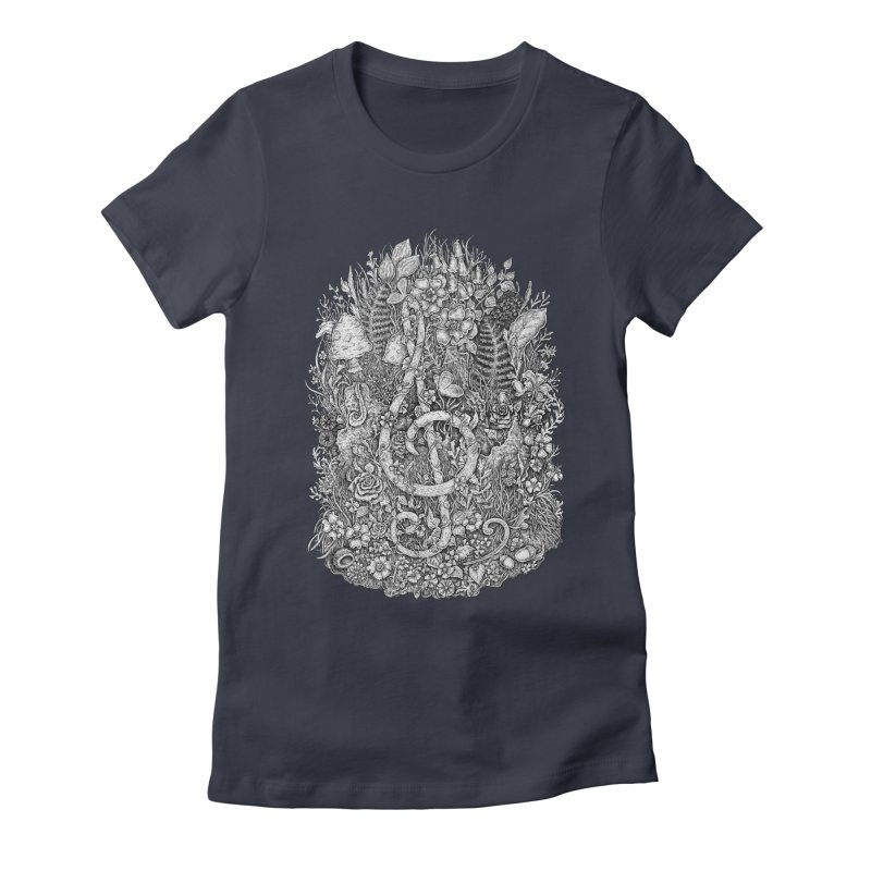 Music Women's Fitted T-Shirt by Eugenia Hauss's | Exiled Beauty