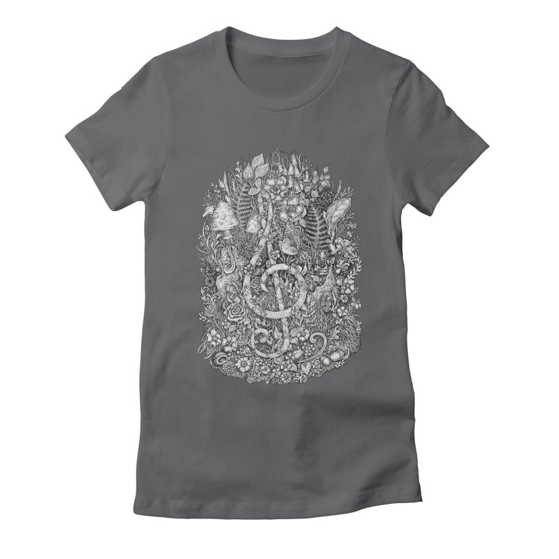Music Women's Fitted T-Shirt by Eugenia Hauss's   Exiled Beauty