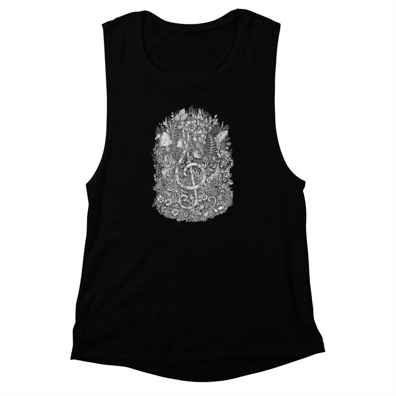Music Women's Muscle Tank by Eugenia Hauss's | Exiled Beauty