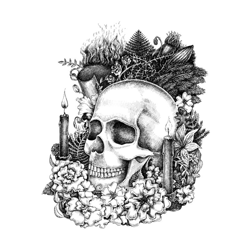 Memento Mori Men's T-Shirt by Eugenia Hauss's | Exiled Beauty