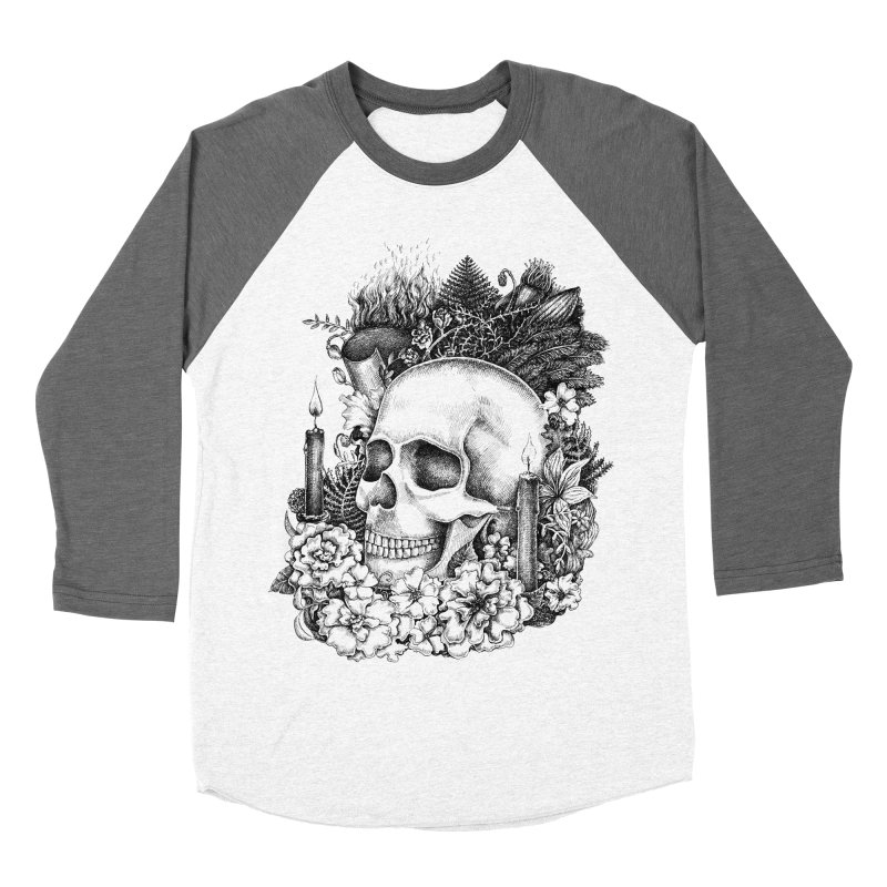 Memento Mori Women's Baseball Triblend T-Shirt by Eugenia Hauss's | Exiled Beauty
