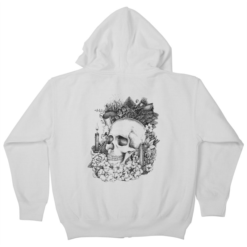 Memento Mori Kids Zip-Up Hoody by Eugenia Hauss's | Exiled Beauty