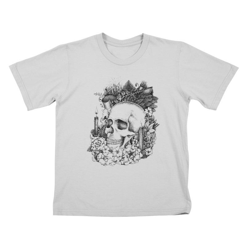 Memento Mori Kids T-Shirt by Eugenia Hauss's | Exiled Beauty
