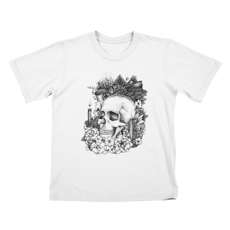 Memento Mori Kids T-Shirt by Eugenia Hauss's | Exiled Beauty
