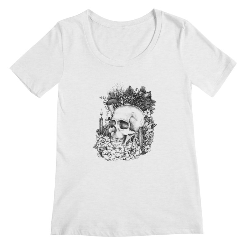 Memento Mori Women's Regular Scoop Neck by Eugenia Hauss's | Exiled Beauty