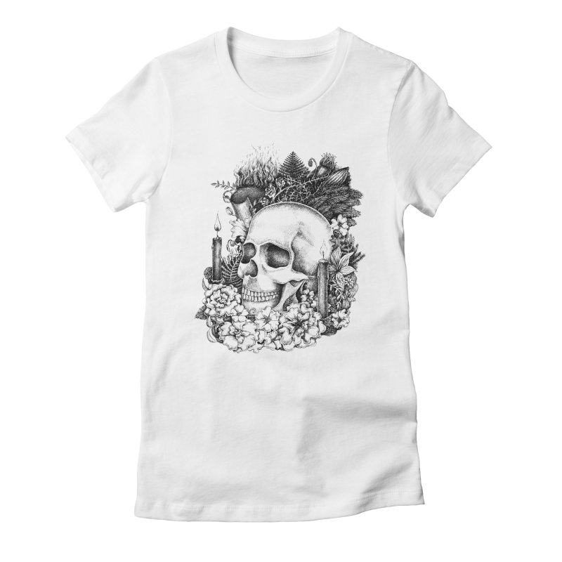 Memento Mori Women's Fitted T-Shirt by Eugenia Hauss's | Exiled Beauty