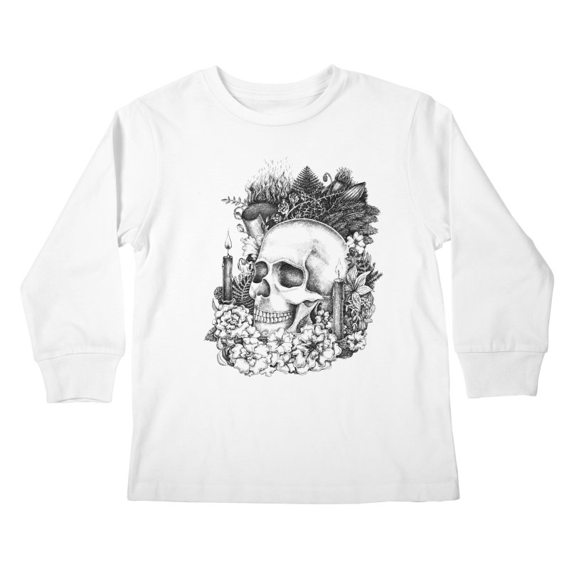 Memento Mori Kids Longsleeve T-Shirt by Eugenia Hauss's | Exiled Beauty