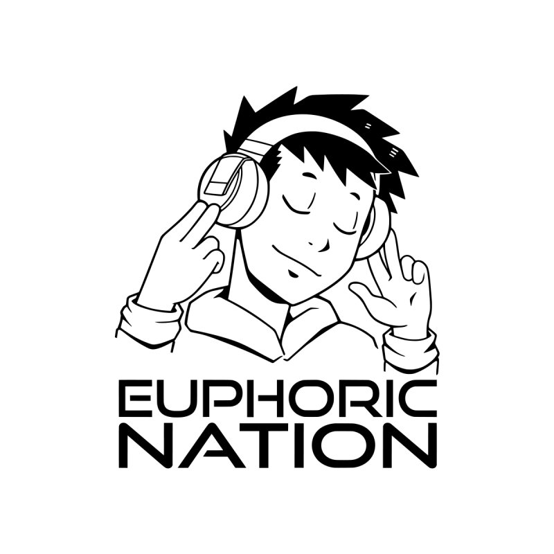 Euphoric Nation Logo Women's V-Neck by Euphoric Nation's Merch!