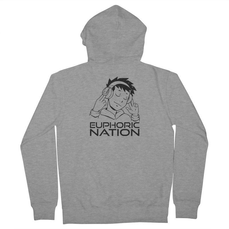 Euphoric Nation Logo Men's French Terry Zip-Up Hoody by Euphoric Nation's Merch!