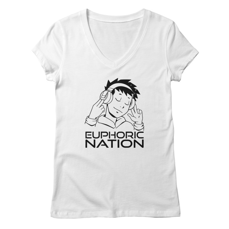 Euphoric Nation Logo Women's Regular V-Neck by Euphoric Nation's Merch!