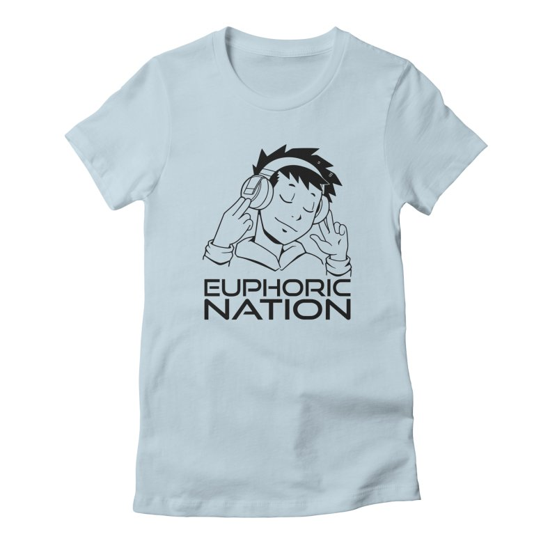 Euphoric Nation Logo Women's Fitted T-Shirt by Euphoric Nation's Merch!