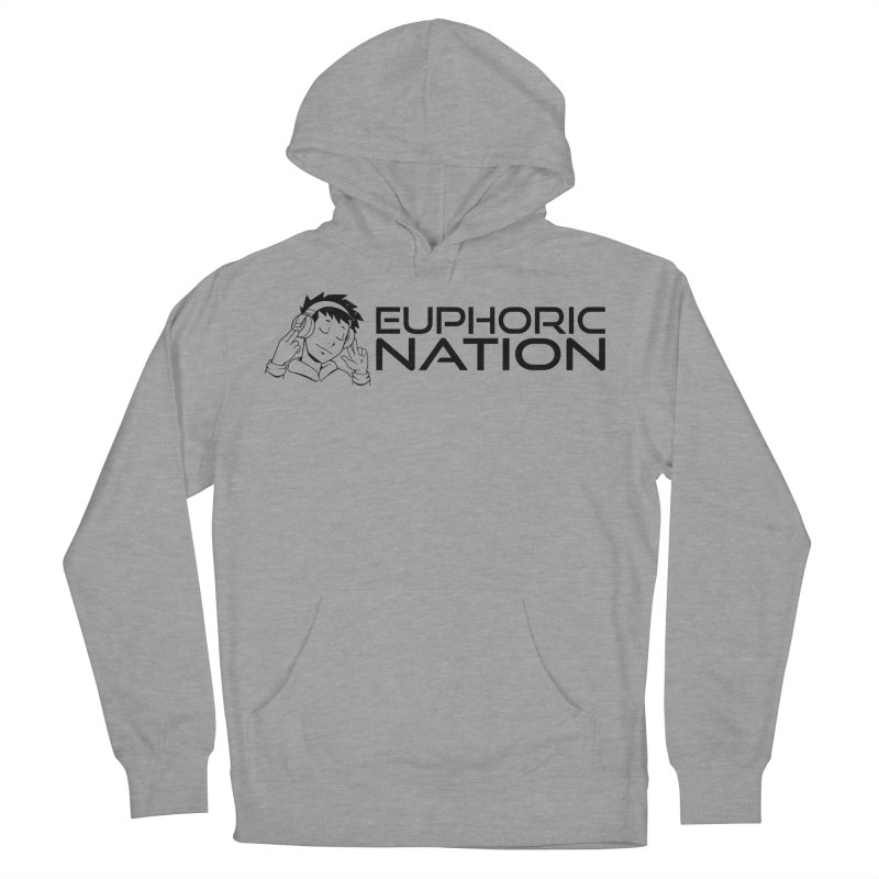 Euphoric Nation Logo - Wide Men's French Terry Pullover Hoody by Euphoric Nation's Merch!