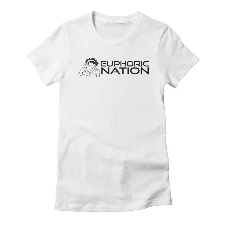 Euphoric Nation Logo - Wide Women's Fitted T-Shirt by Euphoric Nation's Merch!