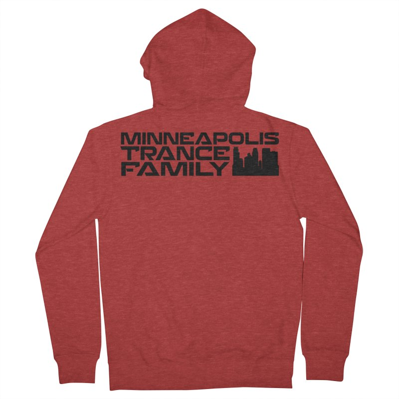 Minneapolis Trance Family Logo Women's French Terry Zip-Up Hoody by Euphoric Nation's Merch!