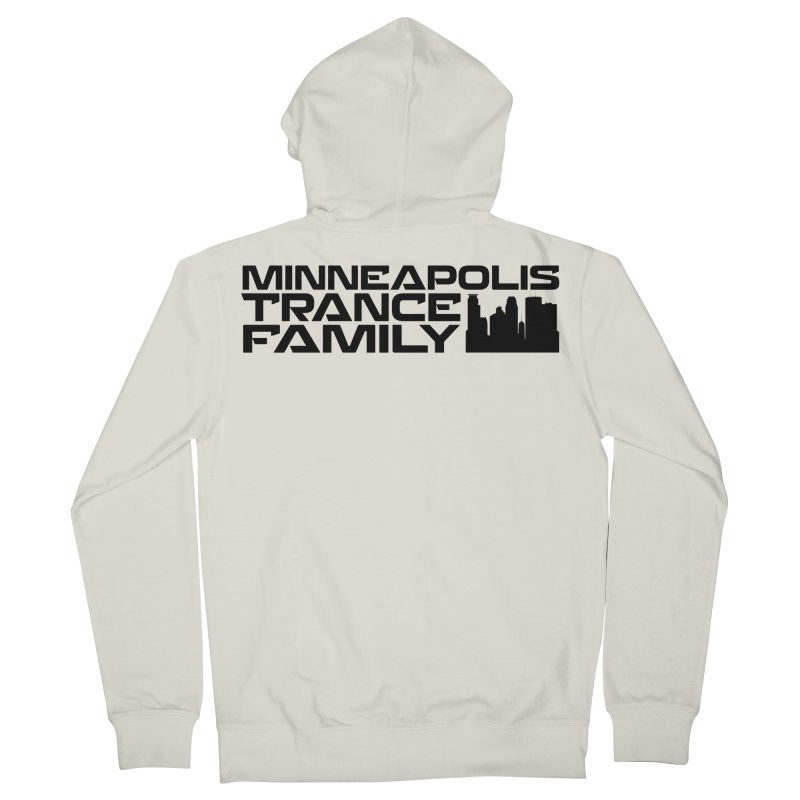 Minneapolis Trance Family Logo Men's French Terry Zip-Up Hoody by Euphoric Nation's Merch!