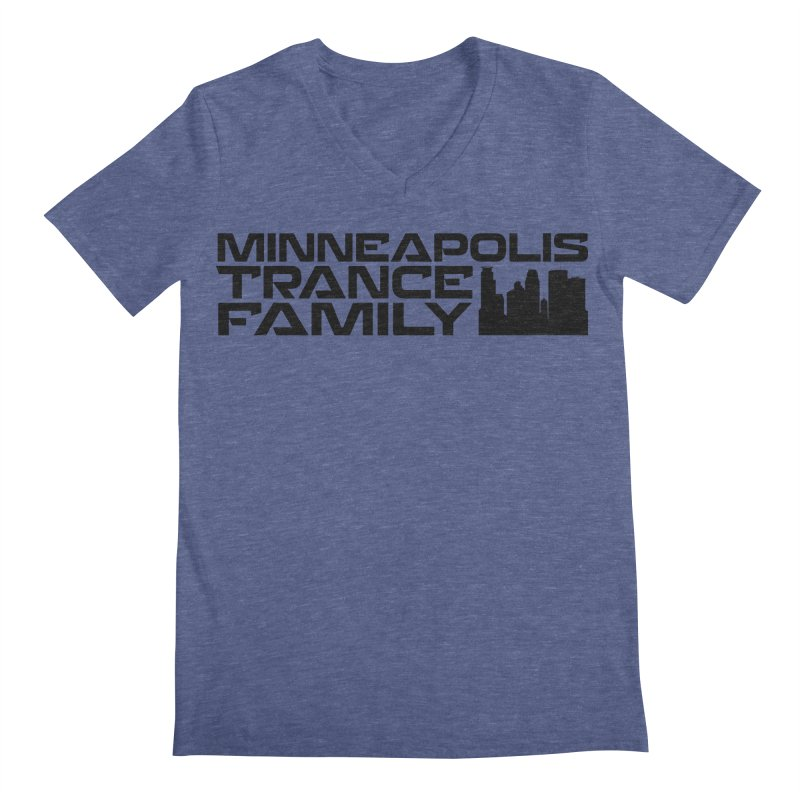 Minneapolis Trance Family Logo Men's Regular V-Neck by Euphoric Nation's Merch!