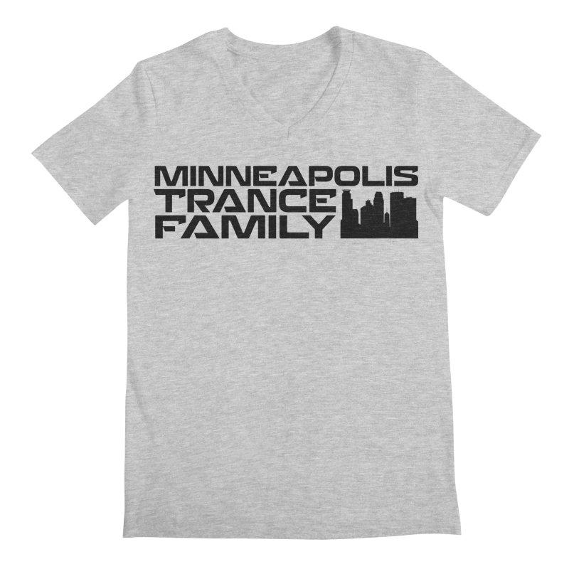 Minneapolis Trance Family Logo Men's Regular V-Neck by Euphoric Nation's Merch!