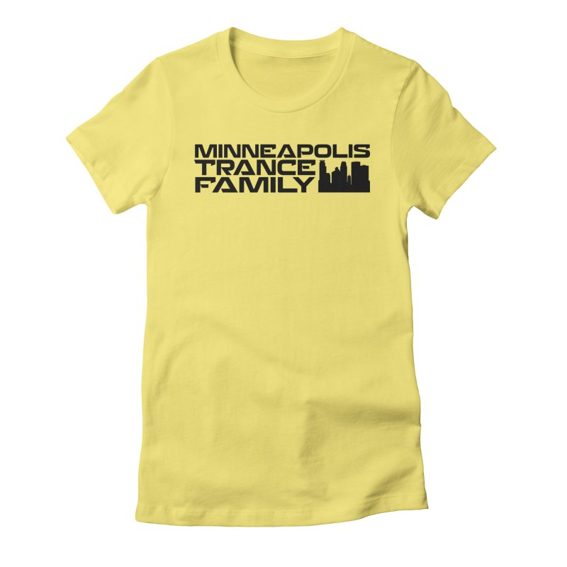 Minneapolis Trance Family Logo Women's Fitted T-Shirt by Euphoric Nation's Merch!