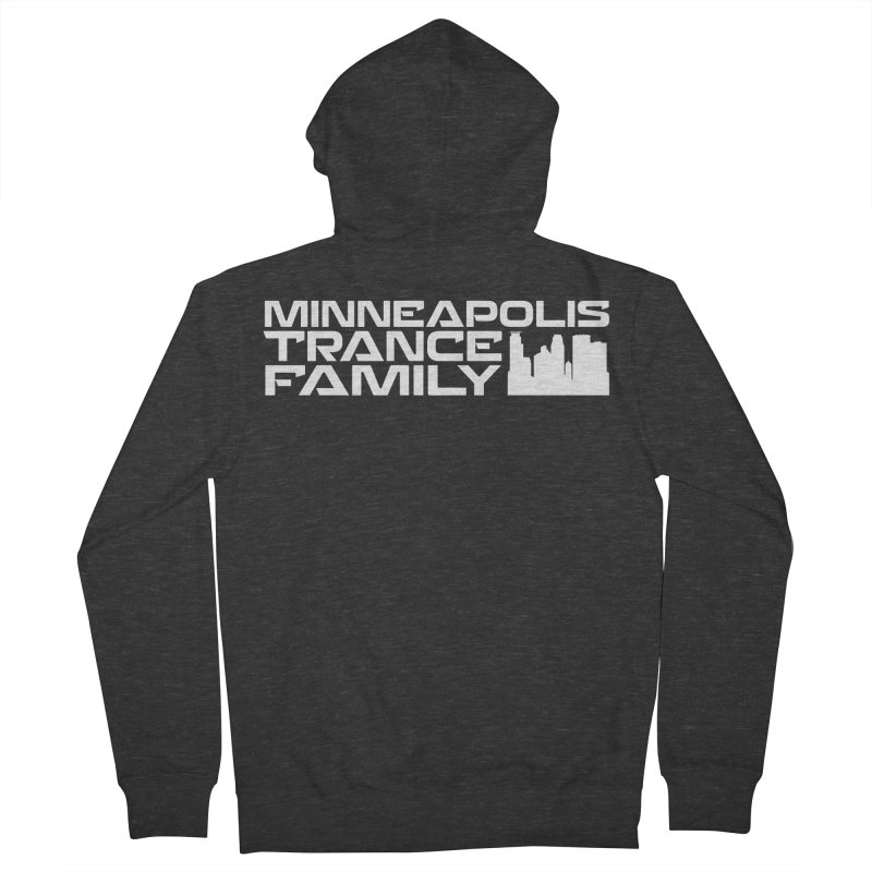 Minneapolis Trance Family - White Women's French Terry Zip-Up Hoody by Euphoric Nation's Merch!