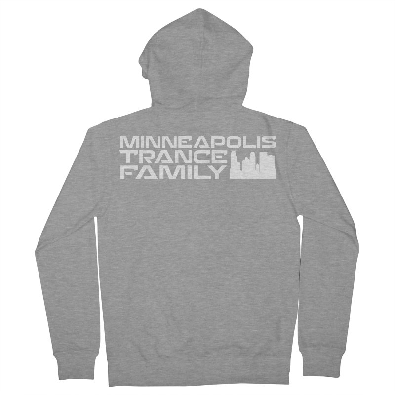 Minneapolis Trance Family - White Men's French Terry Zip-Up Hoody by Euphoric Nation's Merch!