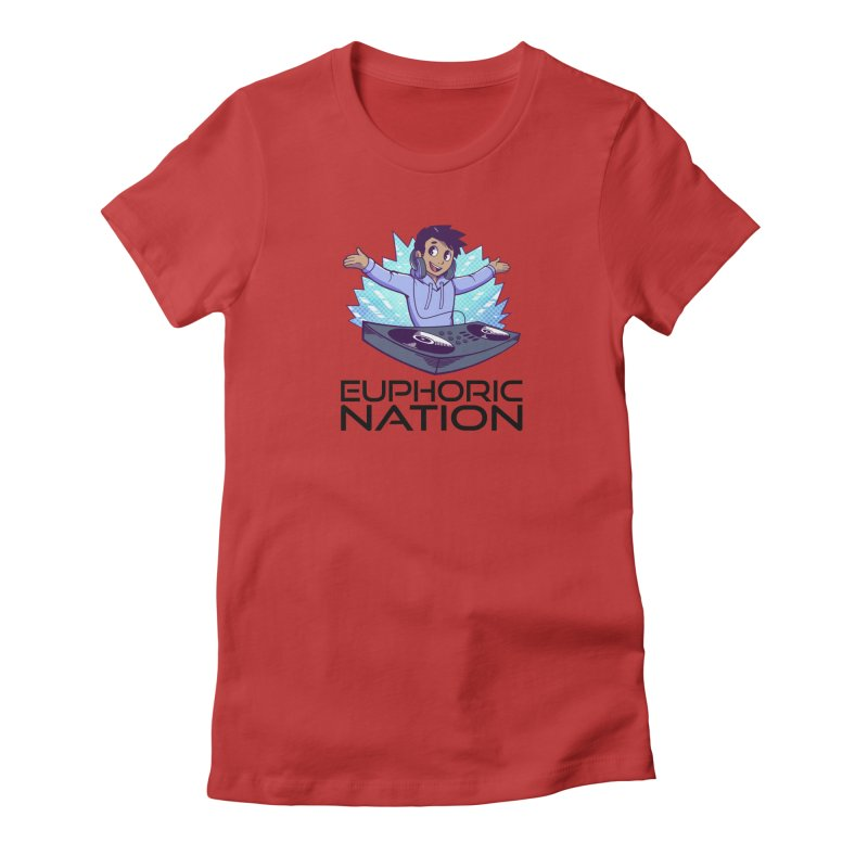 Hands Out Trance Out! Women's Fitted T-Shirt by Euphoric Nation's Merch!