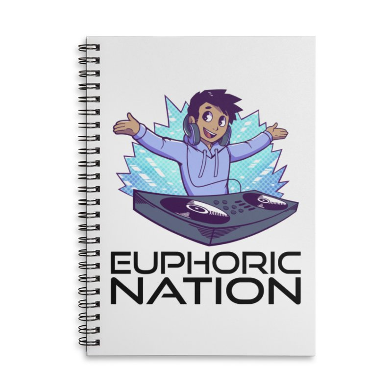 Hands Out Trance Out! Accessories Lined Spiral Notebook by Euphoric Nation's Merch!