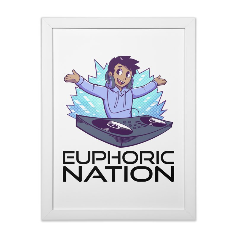 Hands Out Trance Out! Home Framed Fine Art Print by Euphoric Nation's Merch!