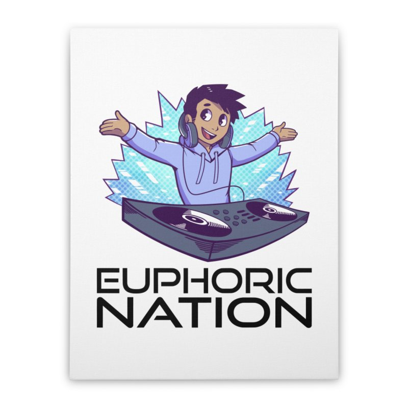 Hands Out Trance Out! Home Stretched Canvas by Euphoric Nation's Merch!