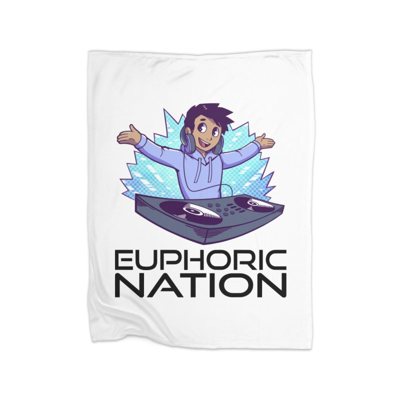 Hands Out Trance Out! Home Blanket by Euphoric Nation's Merch!